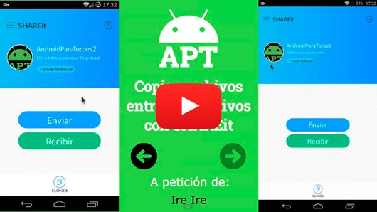 Copiar archivos entre dispositivos con SHAREit
