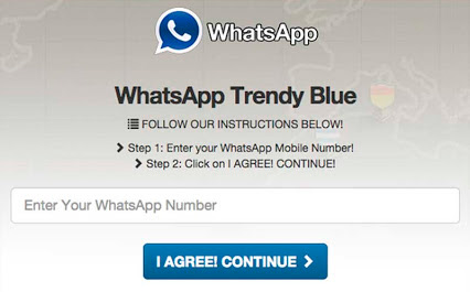 whatsapp azul